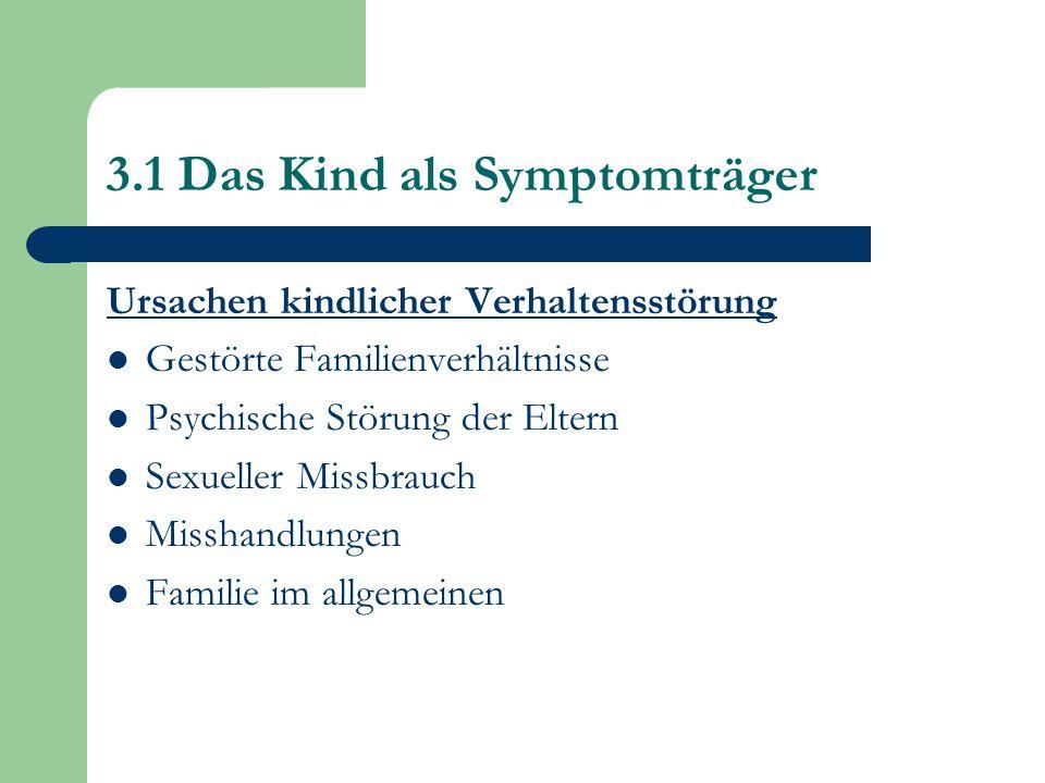 3.1 Das Kind als Symptomträger