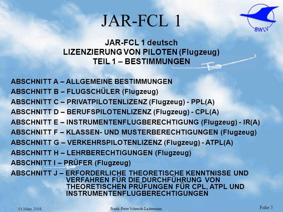LIZENZIERUNG VON PILOTEN (Flugzeug)