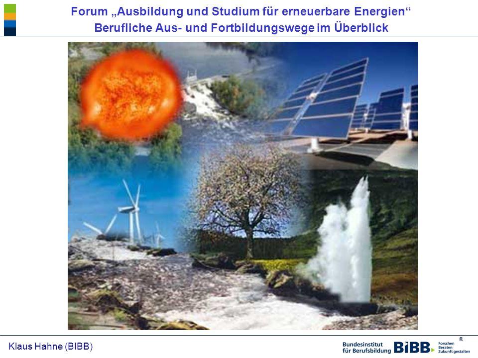 """Forum """"Ausbildung und Studium für erneuerbare Energien"""