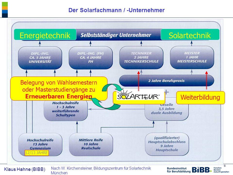 Der Solarfachmann / -Unternehmer