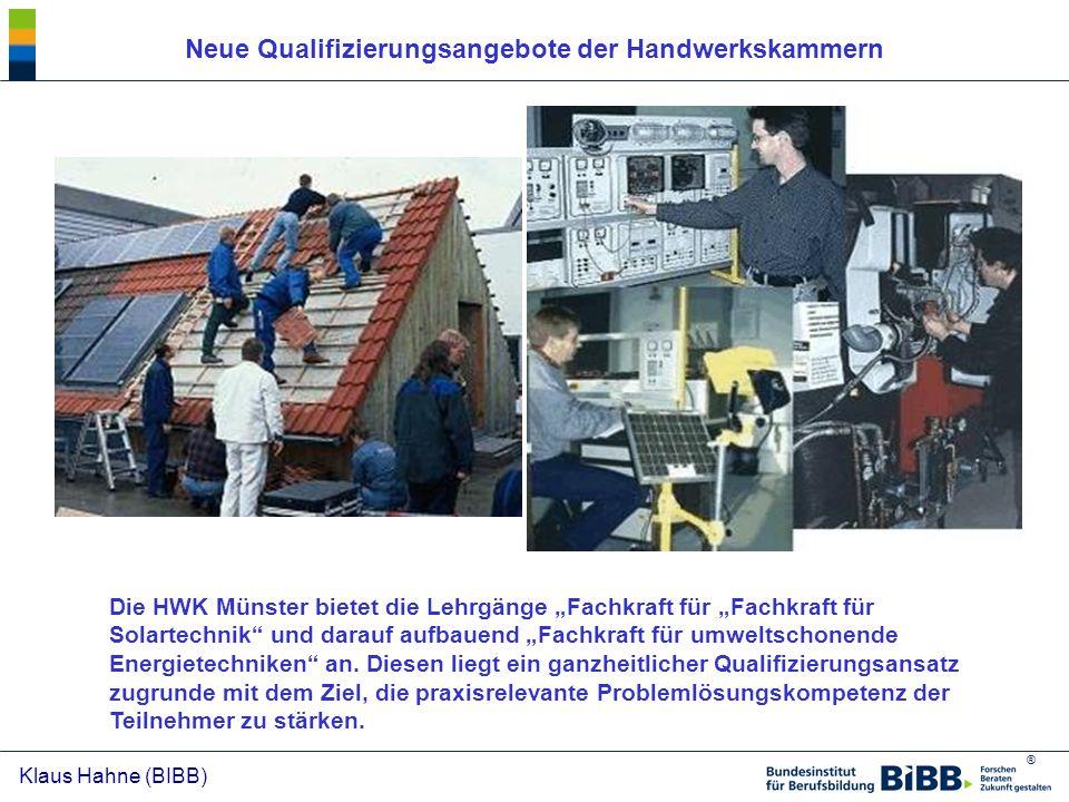 Neue Qualifizierungsangebote der Handwerkskammern