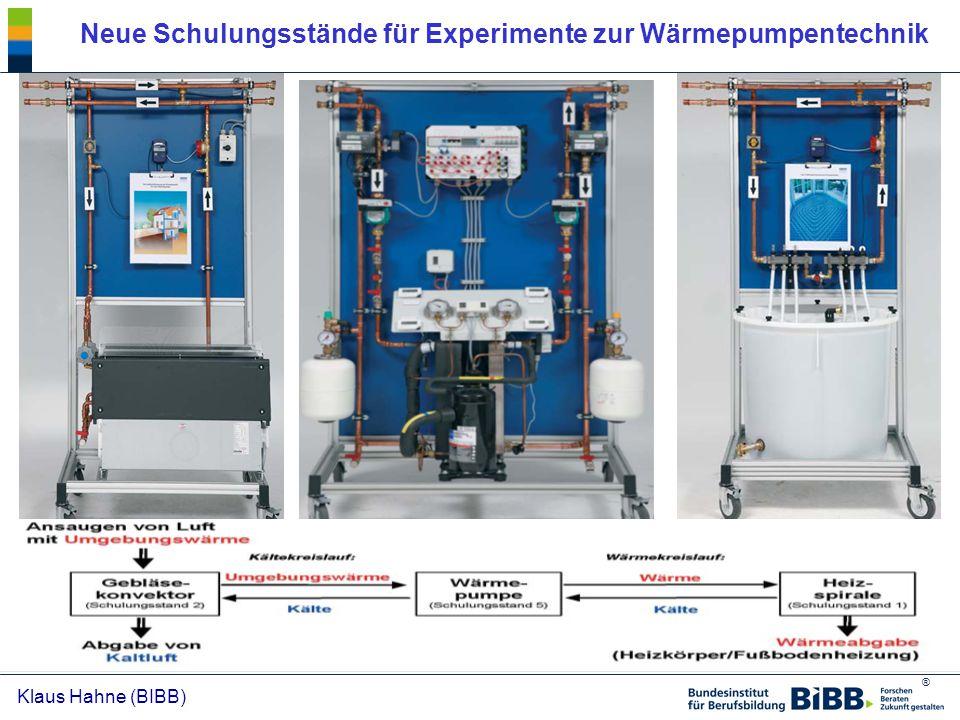 Neue Schulungsstände für Experimente zur Wärmepumpentechnik