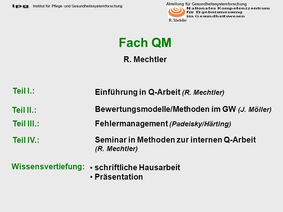 Einführung in Q-Arbeit (R. Mechtler)