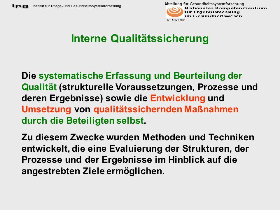 Interne Qualitätssicherung
