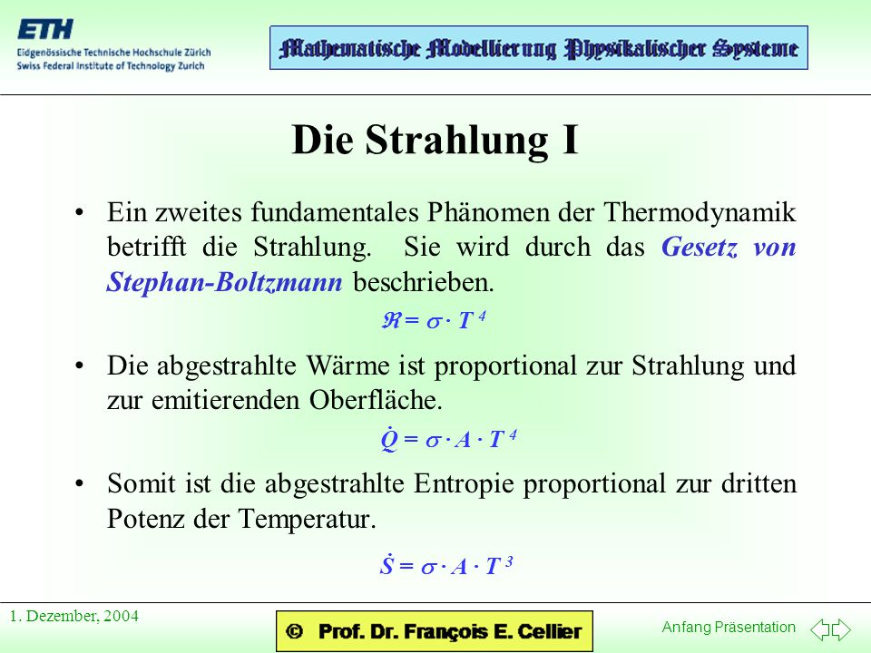Die Strahlung I