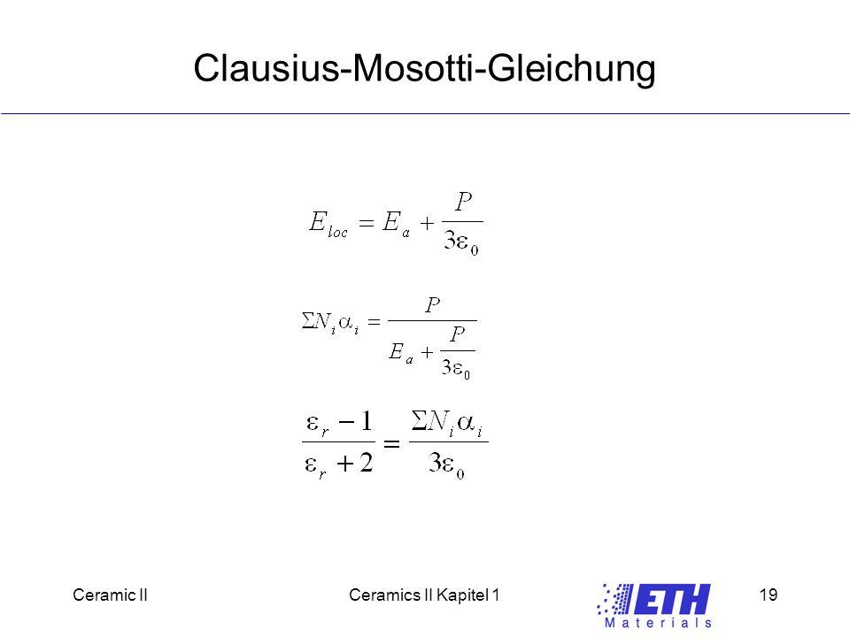 Clausius-Mosotti-Gleichung