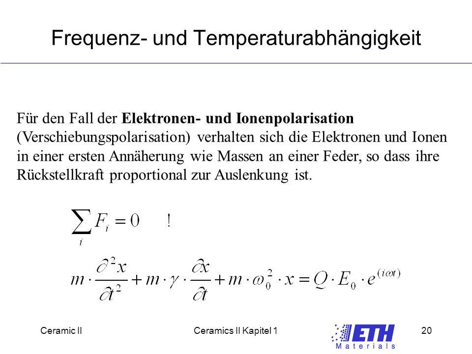 Frequenz- und Temperaturabhängigkeit