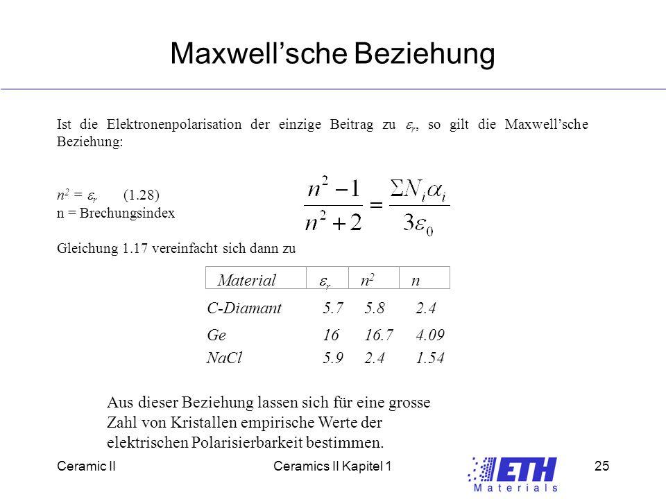 Maxwell'sche Beziehung
