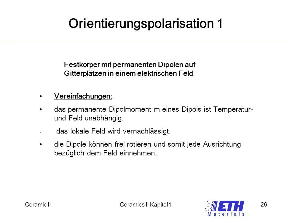 Orientierungspolarisation 1