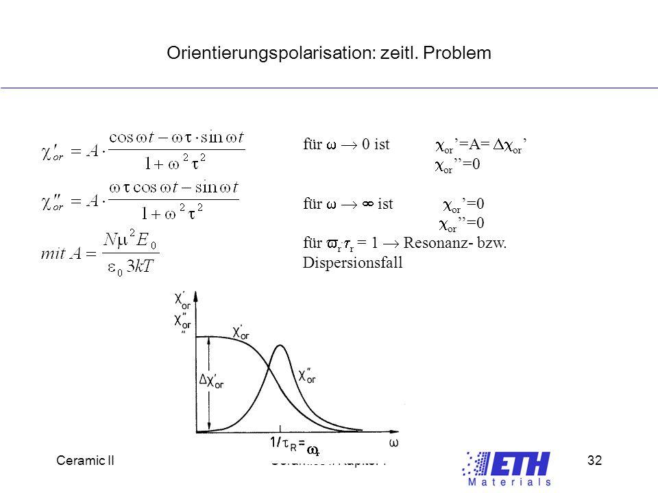 Orientierungspolarisation: zeitl. Problem