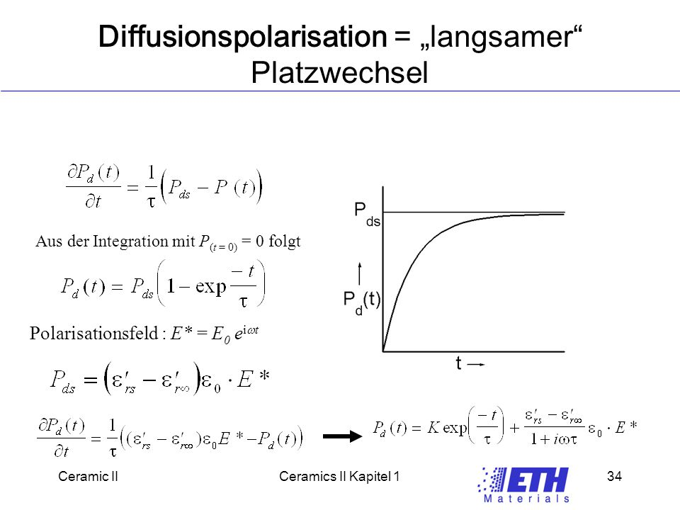 "Diffusionspolarisation = ""langsamer Platzwechsel"