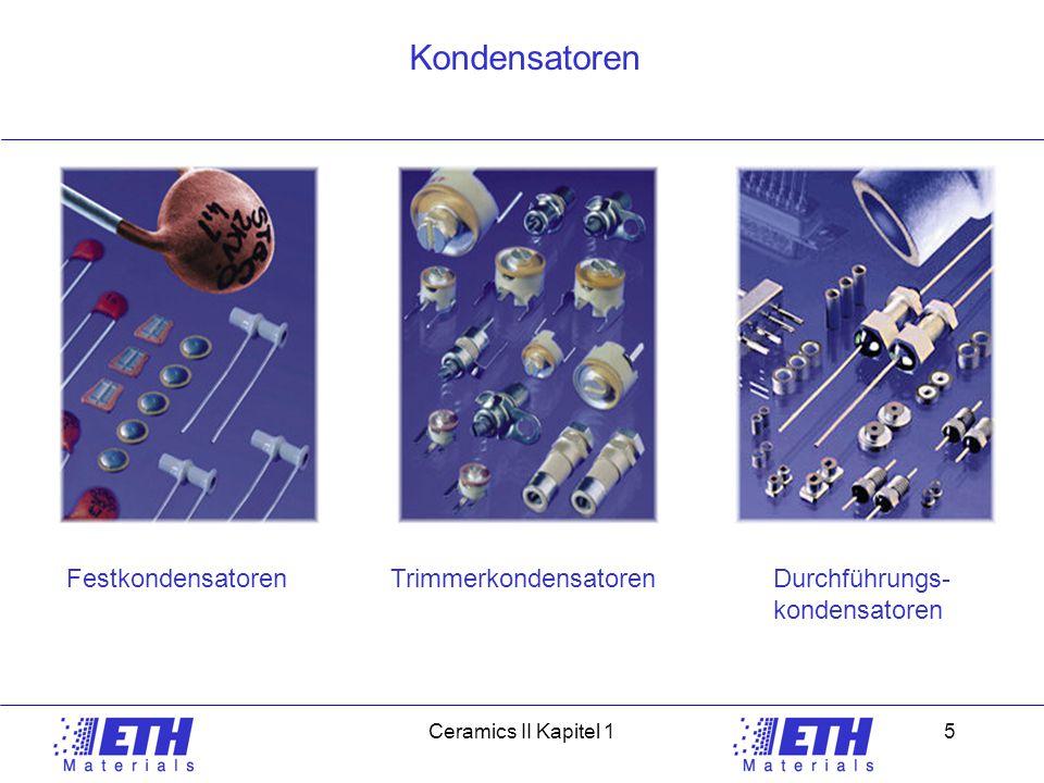 Kondensatoren Festkondensatoren Trimmerkondensatoren