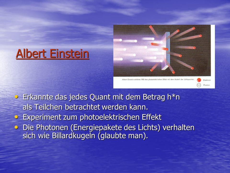 Albert Einstein Erkannte das jedes Quant mit dem Betrag h*n