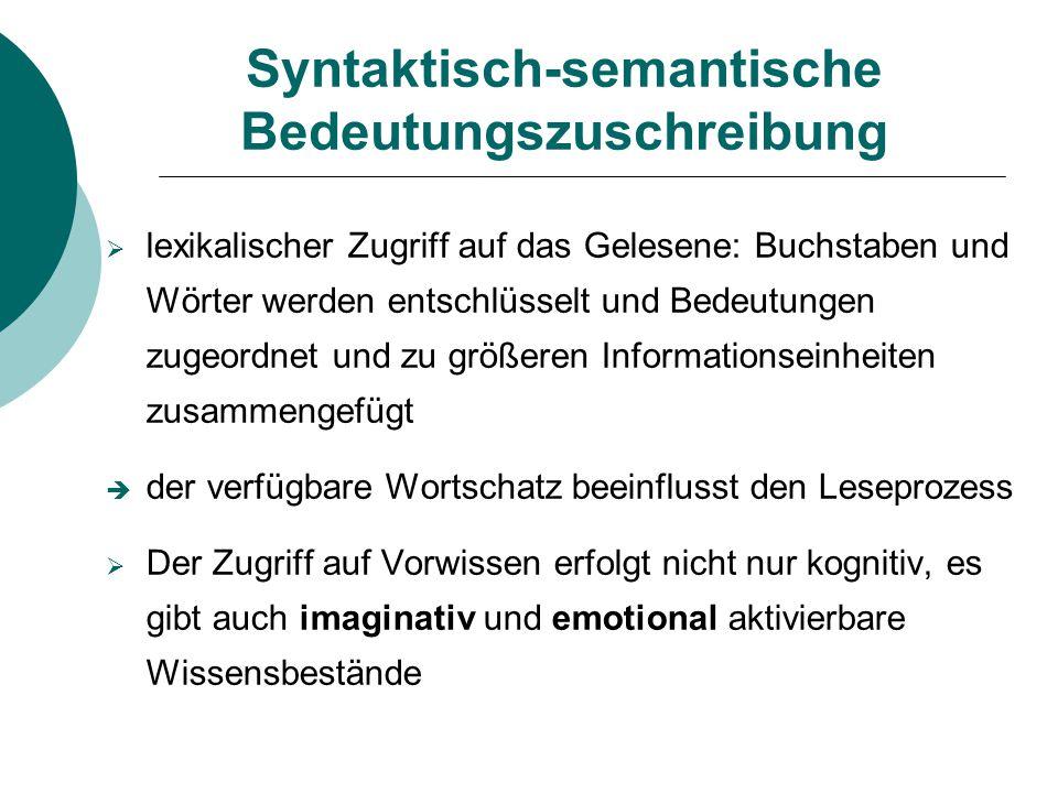 Syntaktisch-semantische Bedeutungszuschreibung