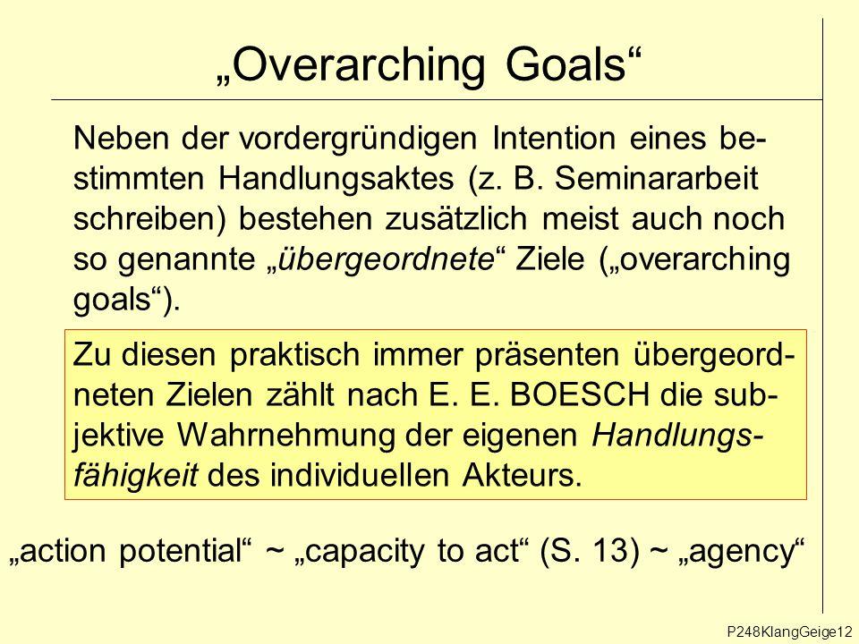 """""""Overarching Goals Neben der vordergründigen Intention eines be-"""