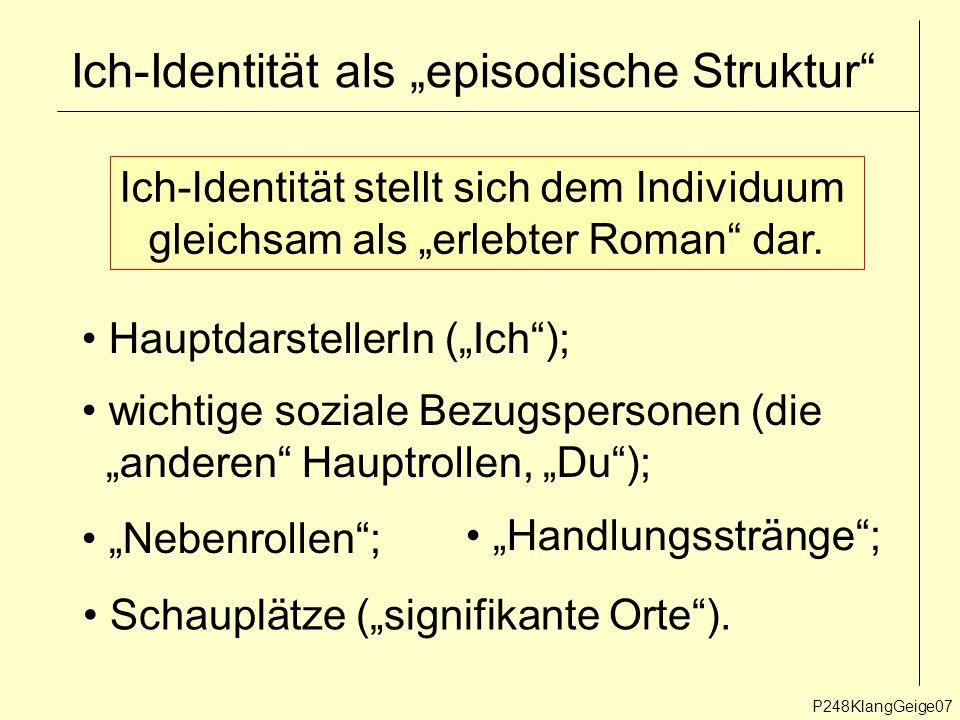 """Ich-Identität als """"episodische Struktur"""