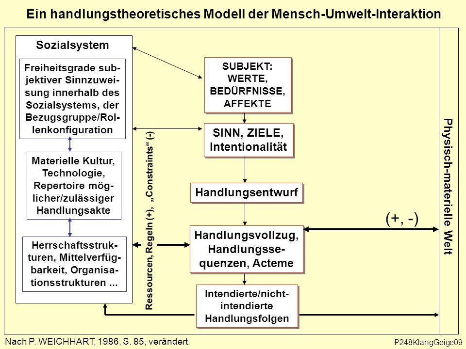 Ein handlungstheoretisches Modell der Mensch-Umwelt-Interaktion