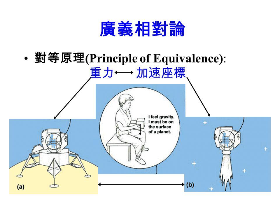 廣義相對論 對等原理(Principle of Equivalence): 重力 加速座標