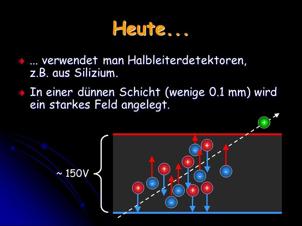 Heute... ... verwendet man Halbleiterdetektoren, z.B. aus Silizium.