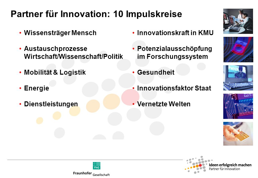 Die Initiative: »Partner für Innovation«