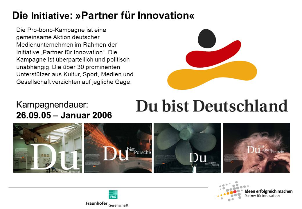 Die »Partner für Innovation«