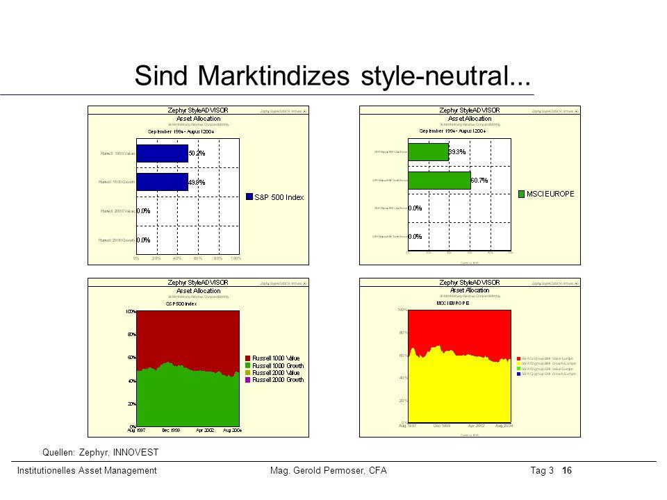 Sind Marktindizes style-neutral...