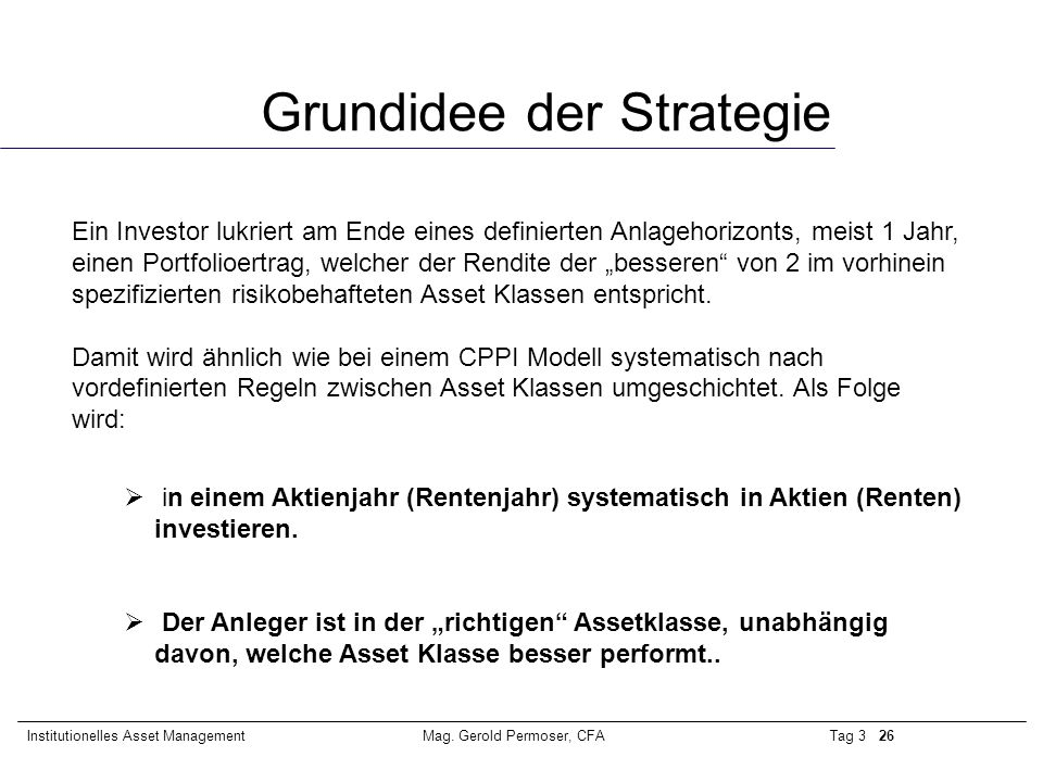 Grundidee der Strategie