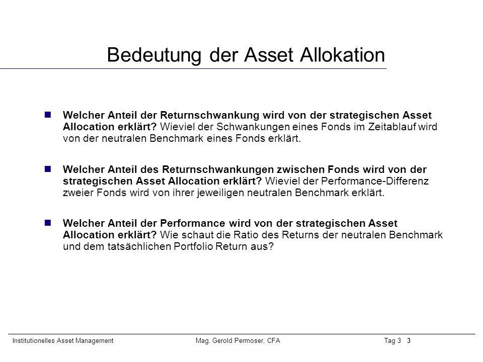 Bedeutung der Asset Allokation