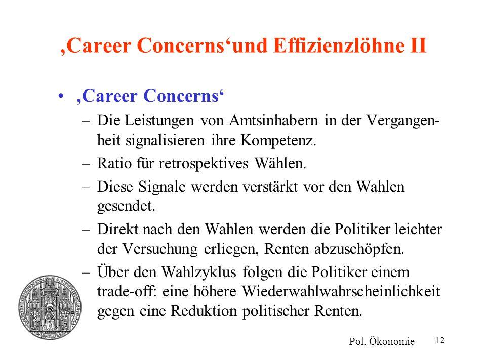 'Career Concerns'und Effizienzlöhne II