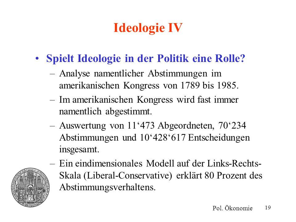 Ideologie IV Spielt Ideologie in der Politik eine Rolle