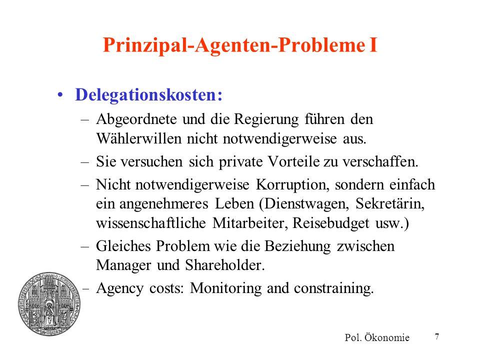 Prinzipal-Agenten-Probleme I