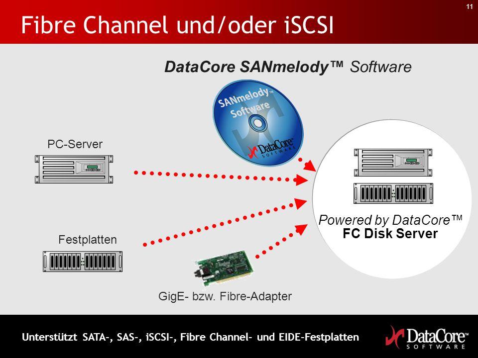 Fibre Channel und/oder iSCSI