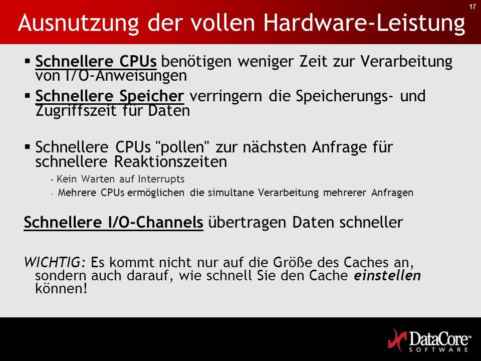 Ausnutzung der vollen Hardware-Leistung