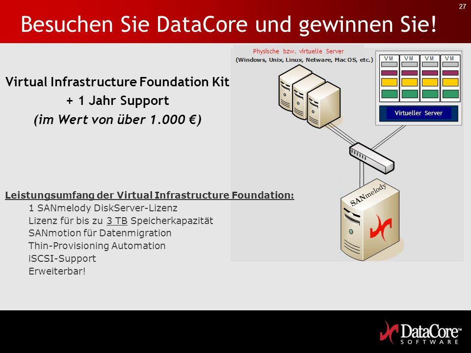 Besuchen Sie DataCore und gewinnen Sie!