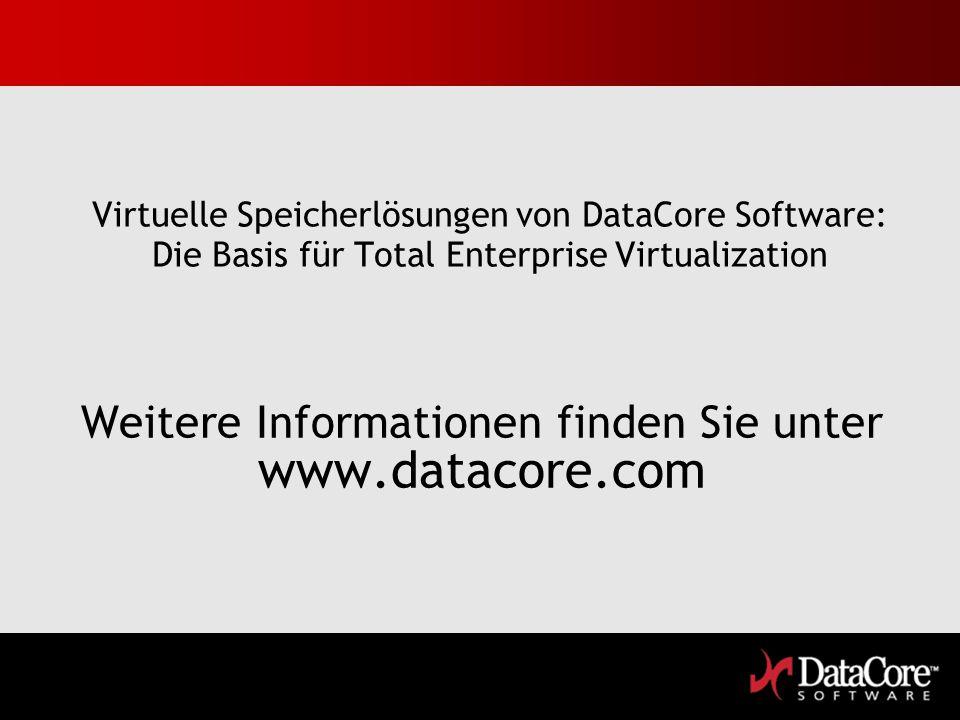 Weitere Informationen finden Sie unter www.datacore.com