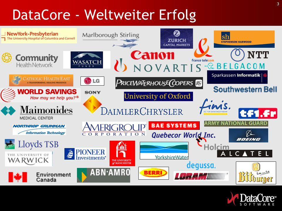 DataCore - Weltweiter Erfolg