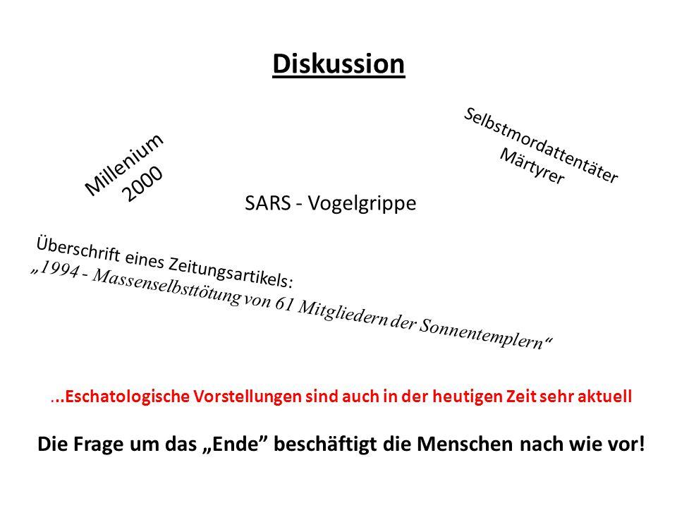 Diskussion Millenium 2000 SARS - Vogelgrippe