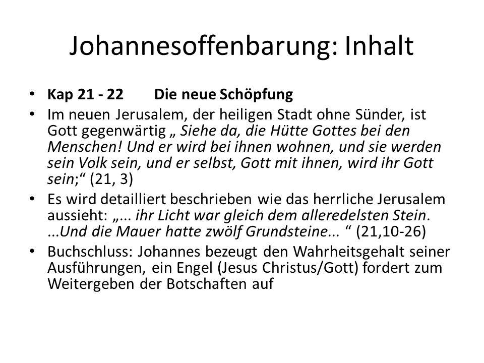 Johannesoffenbarung: Inhalt