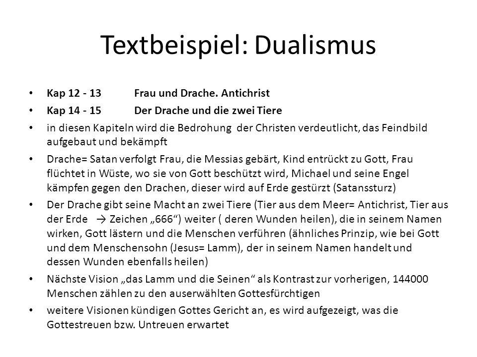 Textbeispiel: Dualismus