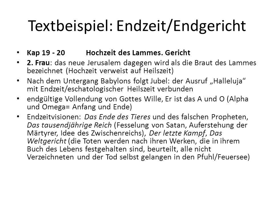 Textbeispiel: Endzeit/Endgericht