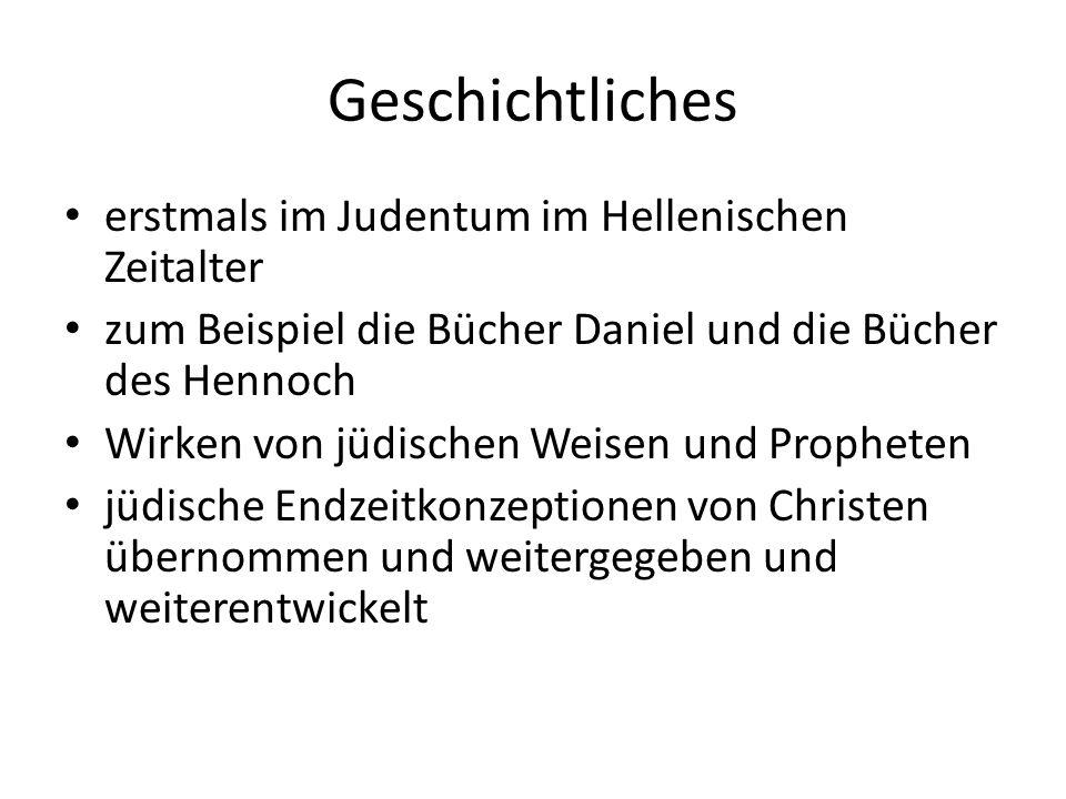 Geschichtliches erstmals im Judentum im Hellenischen Zeitalter