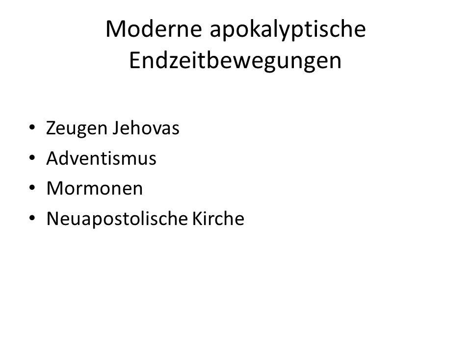 Moderne apokalyptische Endzeitbewegungen