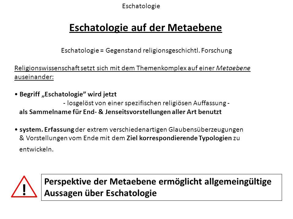 Eschatologie auf der Metaebene