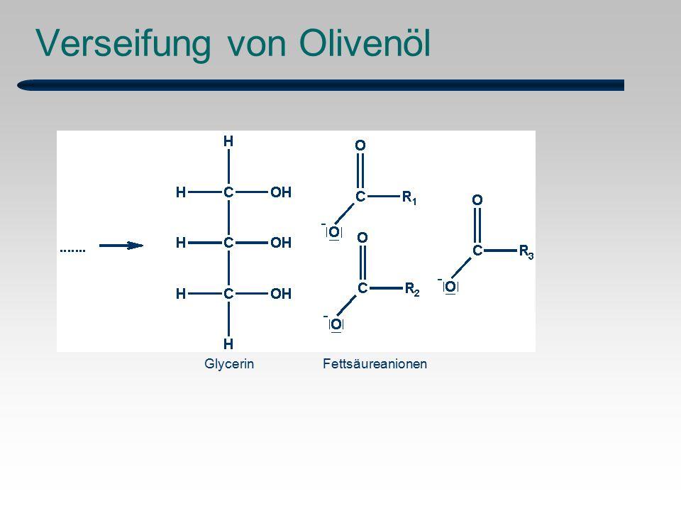 Verseifung von Olivenöl