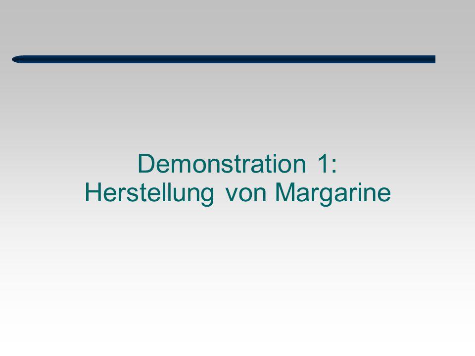 Demonstration 1: Herstellung von Margarine