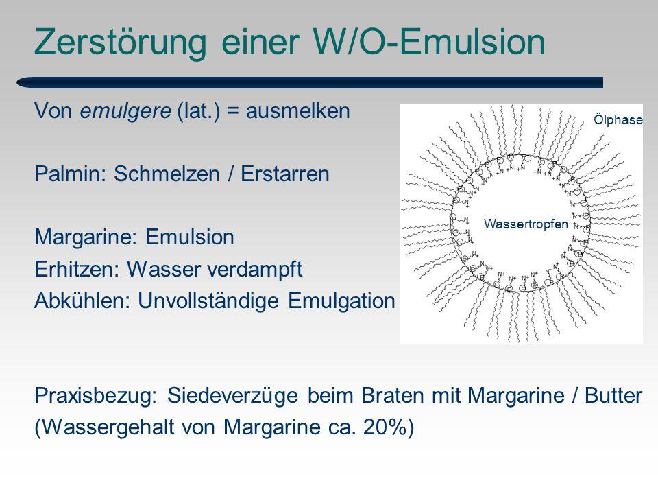 Zerstörung einer W/O-Emulsion