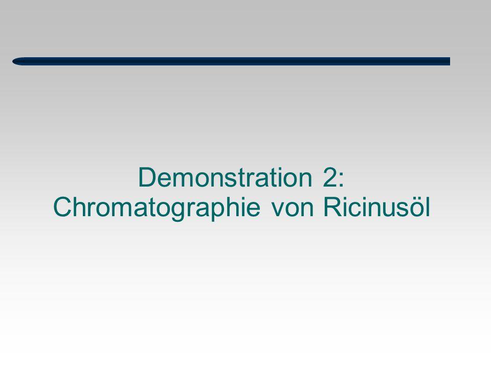 Demonstration 2: Chromatographie von Ricinusöl