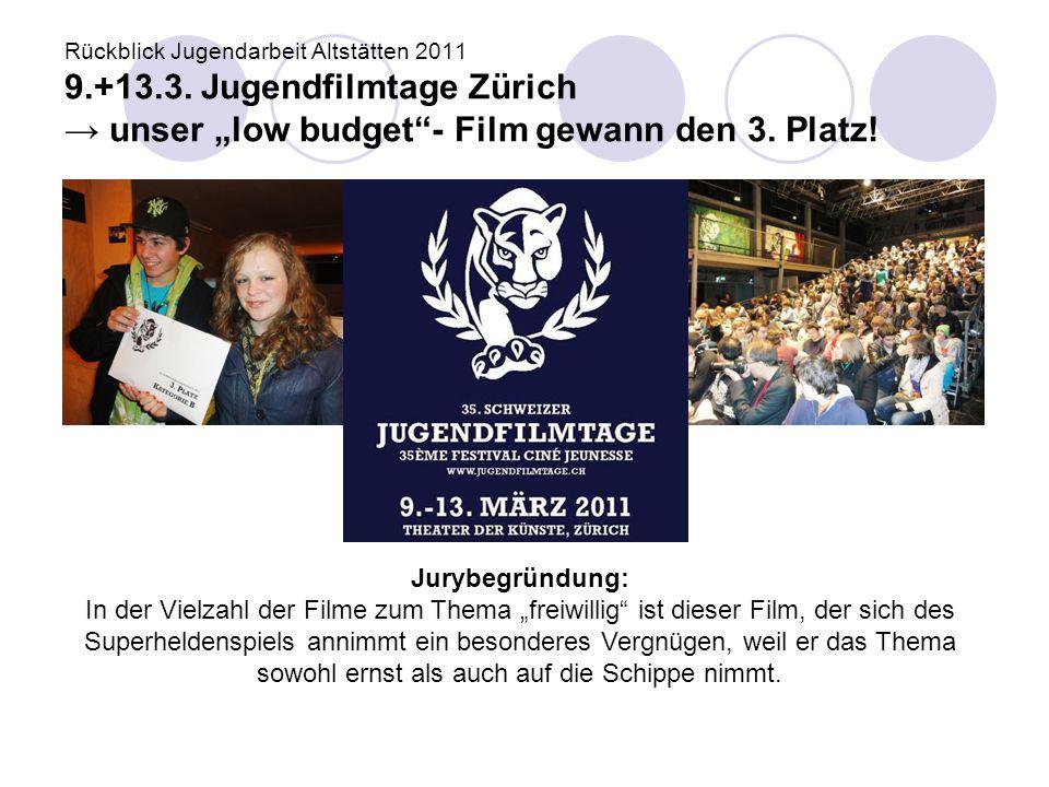 Rückblick Jugendarbeit Altstätten 2011 9. +13. 3