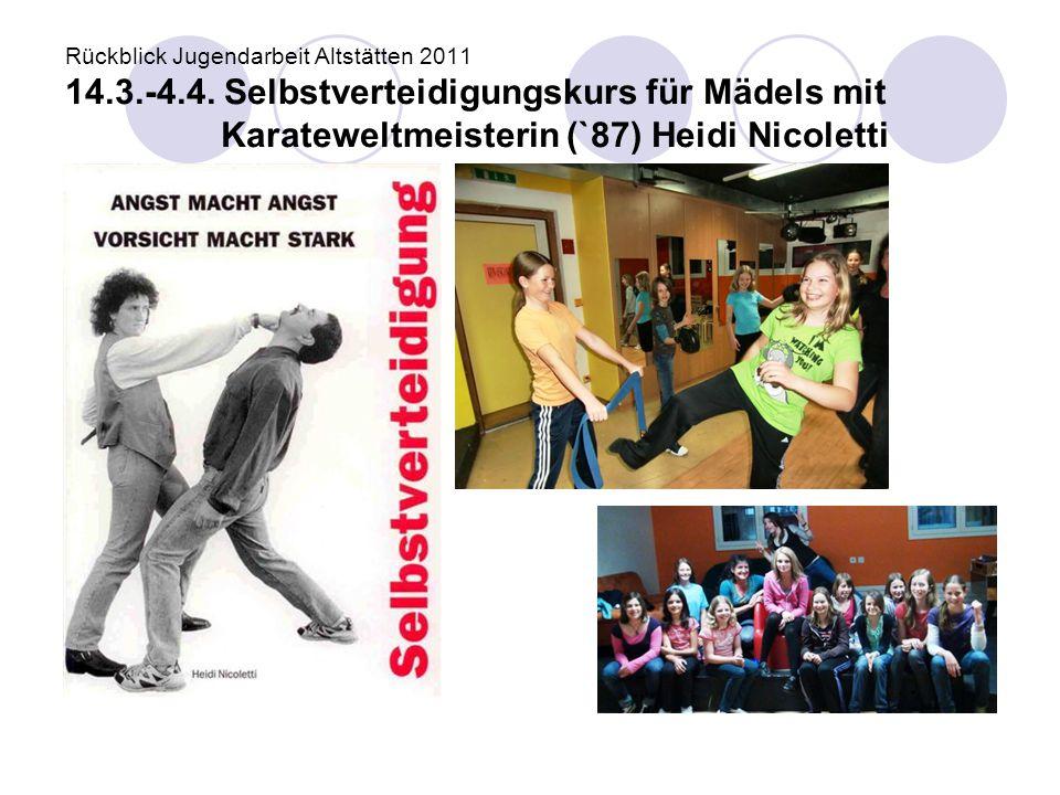 Rückblick Jugendarbeit Altstätten 2011 14. 3. -4. 4