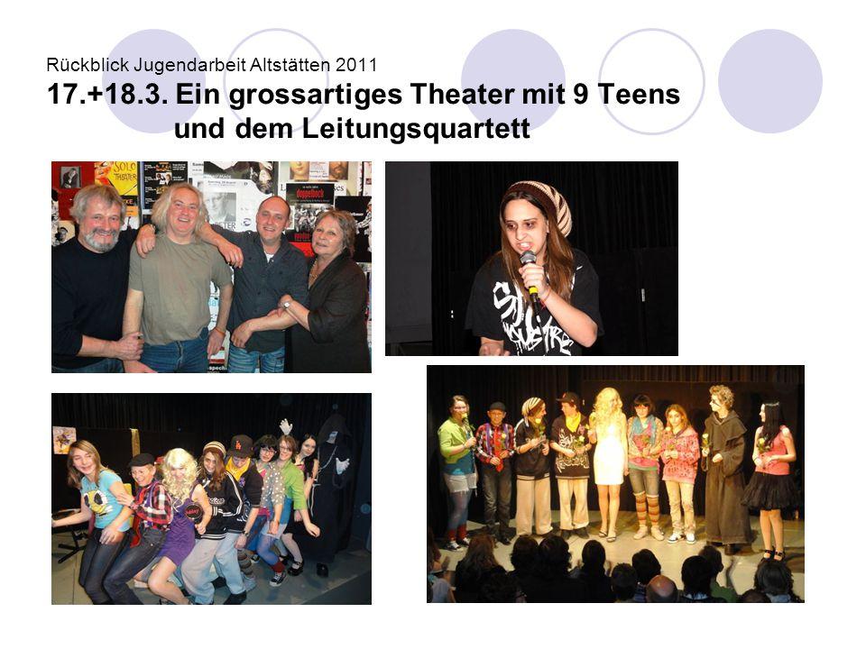 Rückblick Jugendarbeit Altstätten 2011 17. +18. 3
